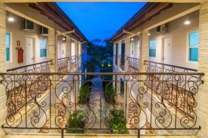 A balcony or terrace at Pousada Recanto Jota Ge
