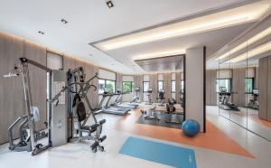 The fitness centre and/or fitness facilities at Le Grove Serviced Residences (SG Clean)