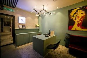 The lobby or reception area at Eureka Hotel Penang