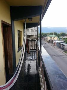 A balcony or terrace at hostel estadio