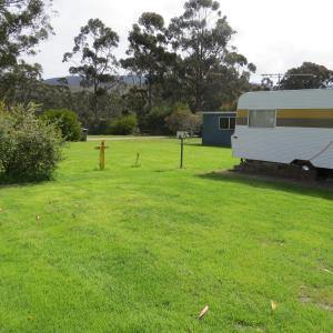 A garden outside Captain Cook Holiday Park