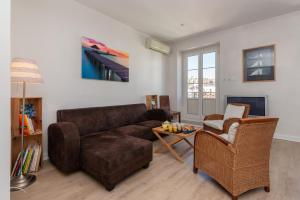 A seating area at Le Sky - 3-bedroom apartment