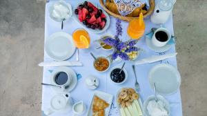 Breakfast options available to guests at Villa Andromeda