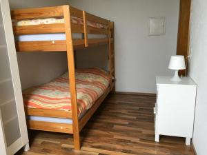 A bunk bed or bunk beds in a room at Haus Nova am Bollerberg