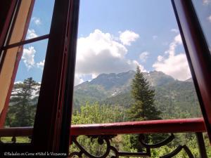 Vue générale sur la montagne ou vue sur la montagne depuis l'hôtel