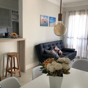 Zona de estar de Apartamento na Praia de Ingleses, Florianópolis