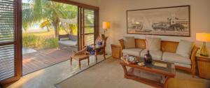Zona de estar de The Residence Zanzibar