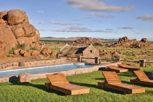 Der Swimmingpool an oder in der Nähe von Gondwana Canyon Village