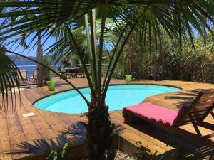 Vue sur la piscine de l'établissement Les Baobabs ou sur une piscine à proximité