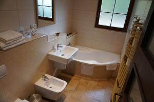Koupelna v ubytování Penzion Jezirko