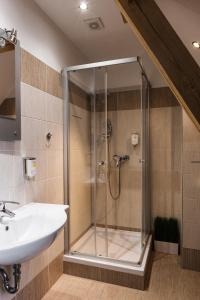 Koupelna v ubytování Pension Coloseum