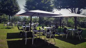 Un restaurante o sitio para comer en Albergue Mandoia Aterpetxea