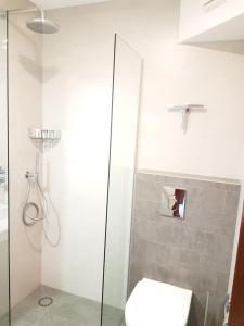 Een badkamer bij CountryHouse de Vlasschure
