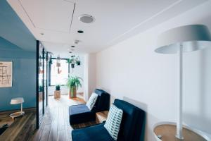 A seating area at Star Hostel Taipei East