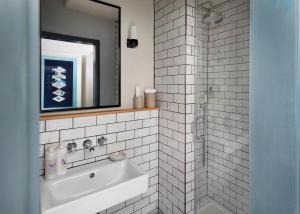 A bathroom at Amano