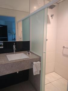 A bathroom at Passer Hotel