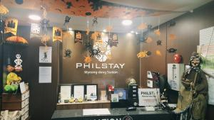The lobby or reception area at Philstay Myeongdong Station