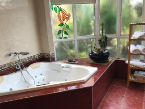 A bathroom at Taj on Byrnes - Private Luxury Apartment Mareeba