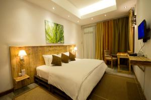 A bed or beds in a room at Villa Alizee