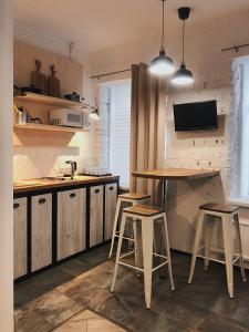 Кухня или мини-кухня в Studio on Zhukovskogo 6