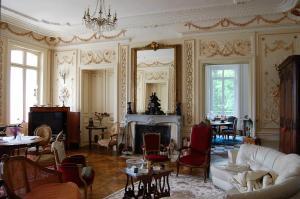Coin salon dans l'établissement Château de broyes
