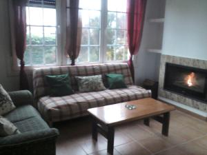 A seating area at Casa Hortiñas