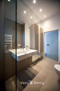 A bathroom at Very Berry - Orzeszkowej 14 - MTP Apartment, parking, check in 24h