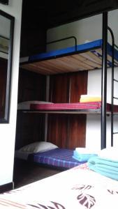 Litera o literas de una habitación en Hostal Mirador Andino