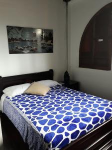 Cama o camas de una habitación en Hostal Mirador Andino
