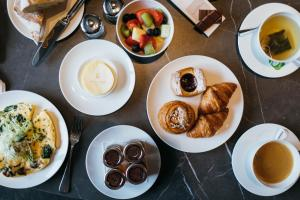 Breakfast options available to guests at Pillows Grand Boutique Hotel Reylof Ghent