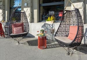 Ein Patio oder anderer Außenbereich in der Unterkunft Cascada Boutique Hotel