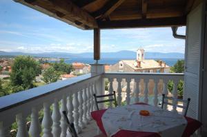 A balcony or terrace at Apartments Novak