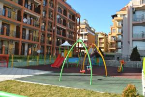 Children's play area at Antorini Apartments