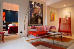 A seating area at Boutique Hotel Trieste