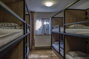A bunk bed or bunk beds in a room at Hostel One Míru