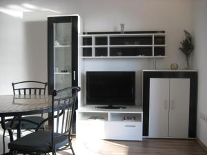 A television and/or entertainment center at Apartments Sonne