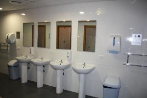 A bathroom at Albergue Ferramenteiro