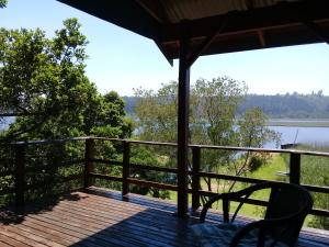 A balcony or terrace at Bushbuck Camp