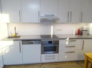 Küche/Küchenzeile in der Unterkunft Ferienwohnung Wiedmann