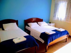 Cama ou camas em um quarto em Hotel Pousada Garoupas