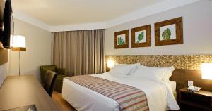 Cama o camas de una habitación en Celi Hotel Aracaju