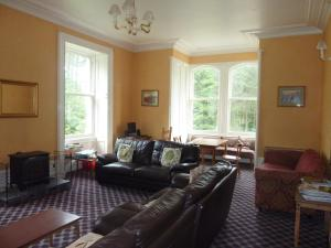 A seating area at Braemar Youth Hostel