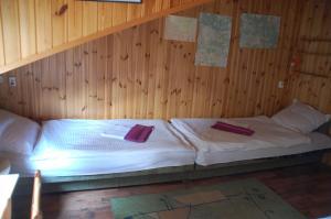Łóżko lub łóżka w pokoju w obiekcie Agroturystyka Pod Świerkami
