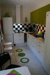 Ett kök eller pentry på Uddevalla Vandrarhem