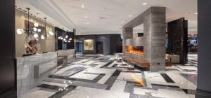 The lobby or reception area at Hilton Boston Back Bay