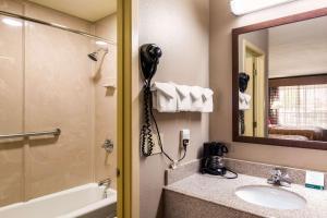 A bathroom at Quality Inn Paris Texas