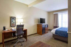A television and/or entertainment center at Comfort Inn & Suites Baton Rouge Airport