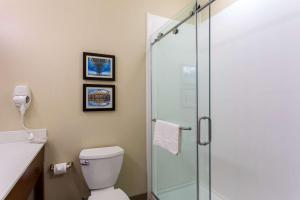 A bathroom at Comfort Inn & Suites Baton Rouge Airport