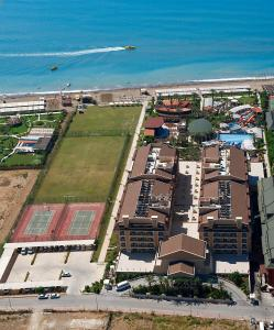 A bird's-eye view of Crystal Family Resort & Spa