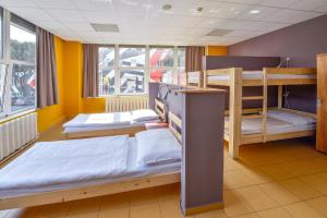 A bunk bed or bunk beds in a room at Plus Prague